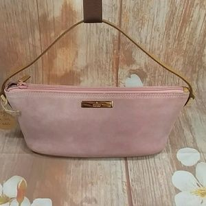 Authentic Gucci Pink Suede Pochette Bag